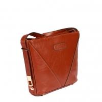 کیف زنانه طرح مثلث چرم طبیعی