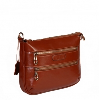 کیف زنانه طرح دو زیپ چرم طبیعی