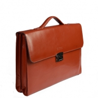 کیف اداری دو طبله چرم طبیعی