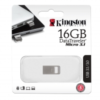 فلش مموری KingSton مدل DataTraveler Micro 3.1 ظرفیت 16 گیگابایت